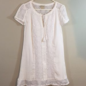 Lucky Brand Women laced White Dress- Size XS -NWOT